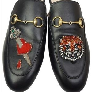 GUCCI BLACK PRINCETON LOAFERS